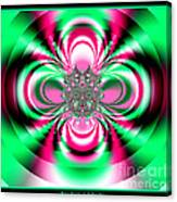 Pink And Green Rotating Flower Fractal 74  Canvas Print