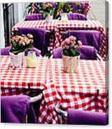 Pink And Purple Dining Canvas Print