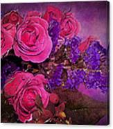 Pink And Purple Floral Bouquet Canvas Print
