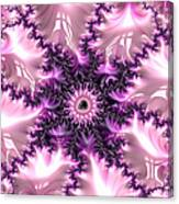 Pink And Purple Soft And Creamy Fractal Art Canvas Print