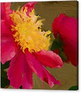 Pink And Yellow Au Deux Canvas Print