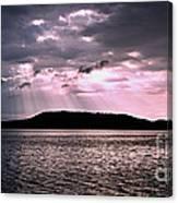 Pink Angel Rays -sunrise Canvas Print