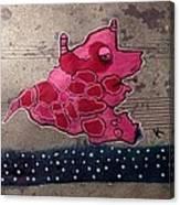 Pink Beastie Canvas Print