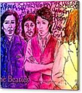 Pink Beatles From Rainbow Series Canvas Print