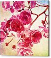 Pink Blossom - Watercolor Edition Canvas Print