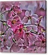 Pink Blossoms - Paint Canvas Print