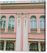 Pink Building Canvas Print