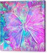 Pink Butterfly By Jan Marvin Canvas Print