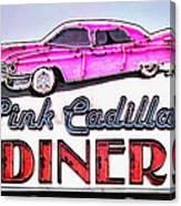 Pink Cadillac Diner Canvas Print