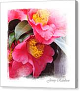 Pink Camellia. Elegant Knickknacks Canvas Print