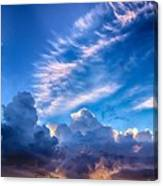 Pink Cloud Trails Over Mount Olympus Canvas Print