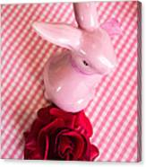 Pink Easter Bunny Decoration Canvas Print