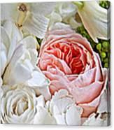Pink English Rose Among White Roses Art Prints Canvas Print
