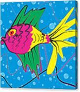 Pink Fish Canvas Print