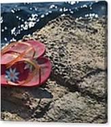 Pink Flip Flop Canvas Print