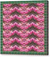 Pink Flower Petal Based Crystal Beads In Sync Wave Pattern Canvas Print