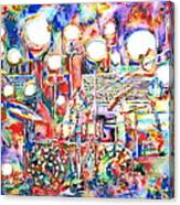 Pink Floyd Live Concert Watercolor Painting.1 Canvas Print