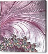 Pink Froth A Fractal Abstract Canvas Print