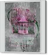 Pink Gazebo Canvas Print