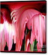 Pink Gladiolas Abstract Canvas Print