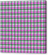 Pink Green And White Plaid Pattern Cloth Background Canvas Print