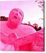 Pink Guitarist Canvas Print