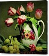 Pink In A Pitcher Canvas Print