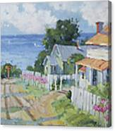 Pink Lady Lilies By The Sea By Joyce Hicks Canvas Print