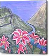 Pink Lillies Canvas Print