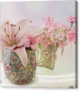 Pink Lily Rainbow Canvas Print