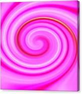 Pink Lollipop Swirl Canvas Print