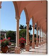 Pink Marble Colonnade Canvas Print