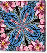 Pink Orchid Kaleidoscope 2 Canvas Print