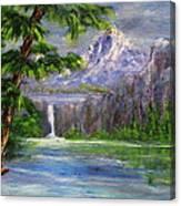Pink Palisades Canvas Print