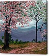 Pink Poui Canvas Print