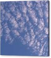 Pink Puffy Clouds Canvas Print