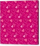 Pink Ribbons  Canvas Print