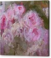 Pink Rose Abstract Canvas Print