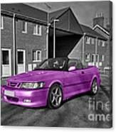 Pink Saab  Canvas Print