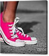 Pink Sneakers  Canvas Print