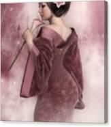 Pink Snow Canvas Print
