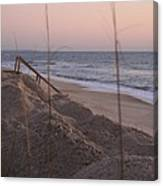 Pink Sunrise On The Beach Canvas Print