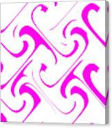 Pink Swirls Canvas Print