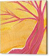 Pink Tree By Jrr Canvas Print