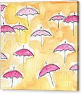 Pink Umbrellas Canvas Print