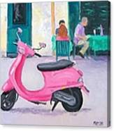 Pink Vespa Canvas Print