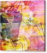 Pink Vineyard Plumps Canvas Print