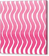 Pink Waves- Abstract Watercolor Pattern Canvas Print