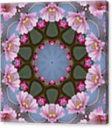 Pink Weeping Cherry Blossom Kaleidoscope Canvas Print