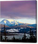 Pink Winter Clouds Canvas Print